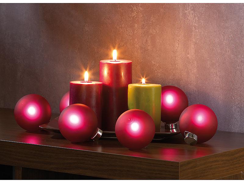 6 fernbedienbare beleuchtete weihnachtsbaumkugeln aus glas. Black Bedroom Furniture Sets. Home Design Ideas
