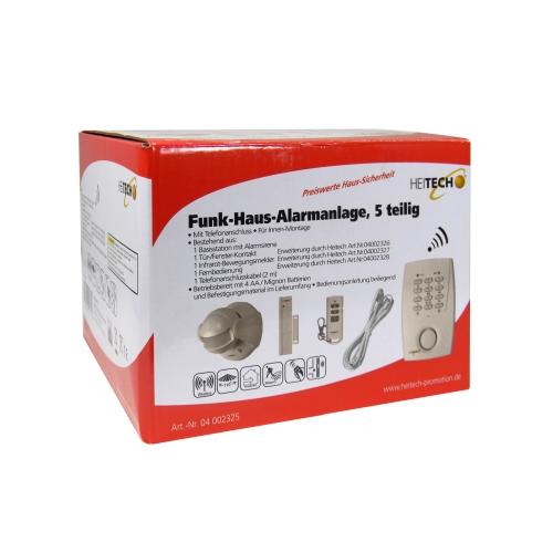 funk haus alarmanlage alarmsystem sirene infrarot bewegungsmelder telefon melder ebay. Black Bedroom Furniture Sets. Home Design Ideas
