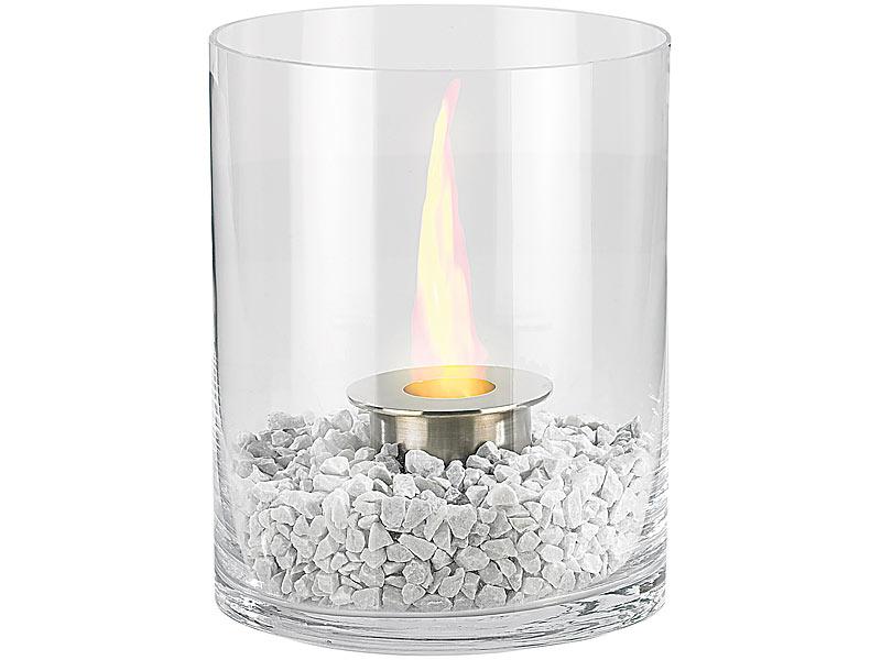 glas dekofeuer f r bio ethanol kasra kamin carlo milano feuerstelle tischlicht ebay. Black Bedroom Furniture Sets. Home Design Ideas