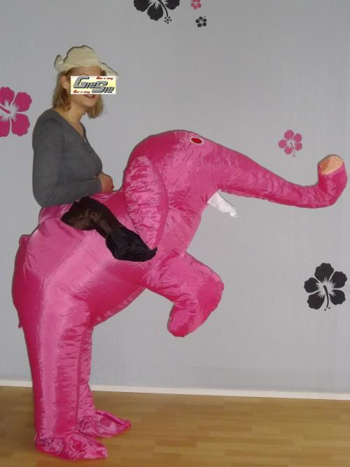 aufblasbares kost m rosa elefant selbstaufblasend neu ebay. Black Bedroom Furniture Sets. Home Design Ideas