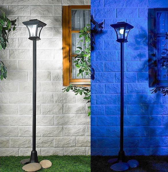 led solar standleuchte wegeleuchte gartenleuchte 166 cm lunartec laterne neu ebay. Black Bedroom Furniture Sets. Home Design Ideas