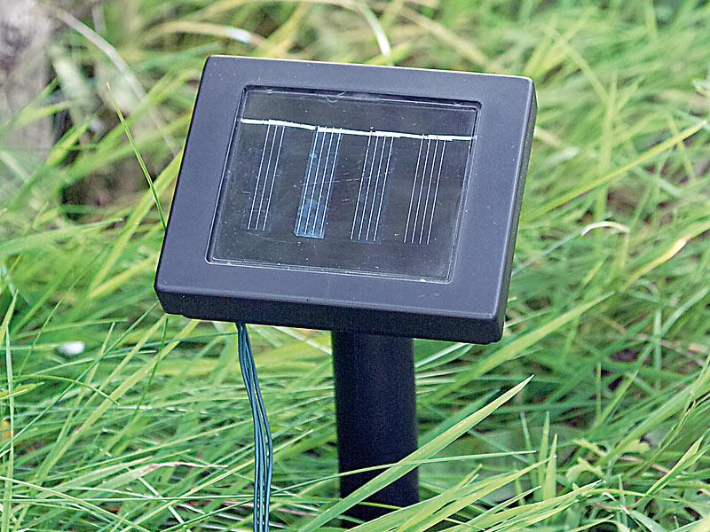 solar 50 led lichterkette weiss 7 meter 8 leuchtprogramme f r innen aussen neu ebay. Black Bedroom Furniture Sets. Home Design Ideas