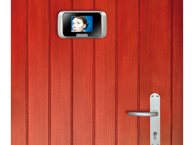 digitaler t rspion mit bewegungserkennung kamera display. Black Bedroom Furniture Sets. Home Design Ideas